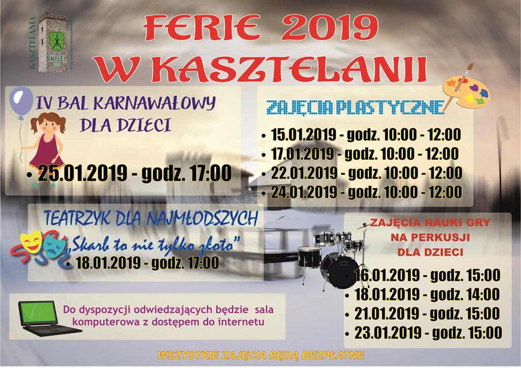 ferie wKasztelanii 2019